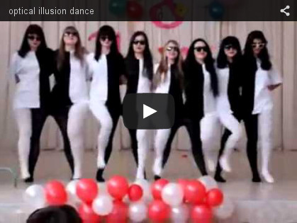Optical illusion dance