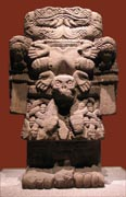 Statue of Coatlicue displayed in National Museum of Anthropology and History in Mexico City