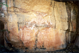 Australian Aboriginal art rock painting of the Creation Ancestors