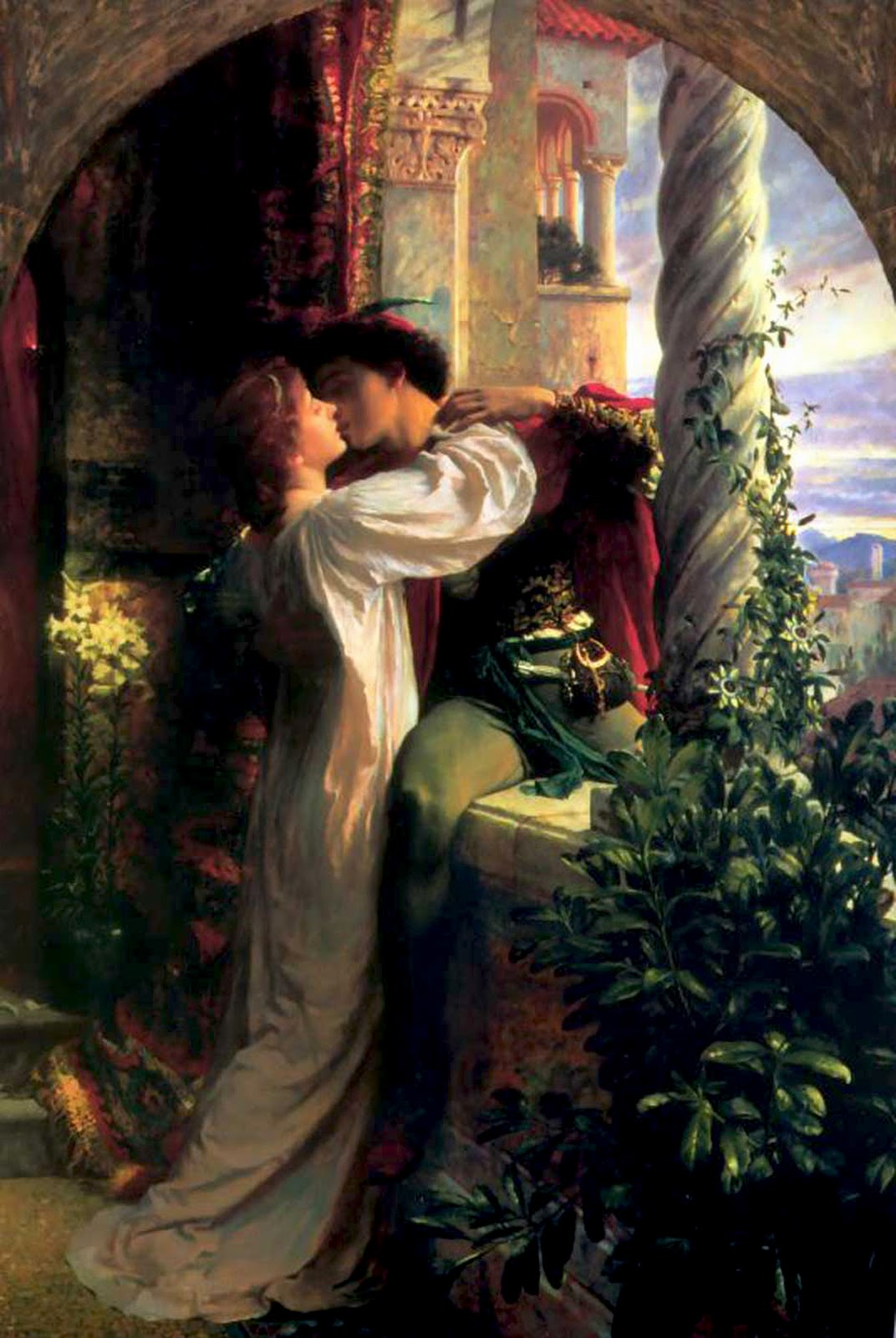 Romeo and Juliet portrayed by Frank Dicksee
