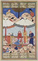 Layla and Majnun meet for the last time before their deaths