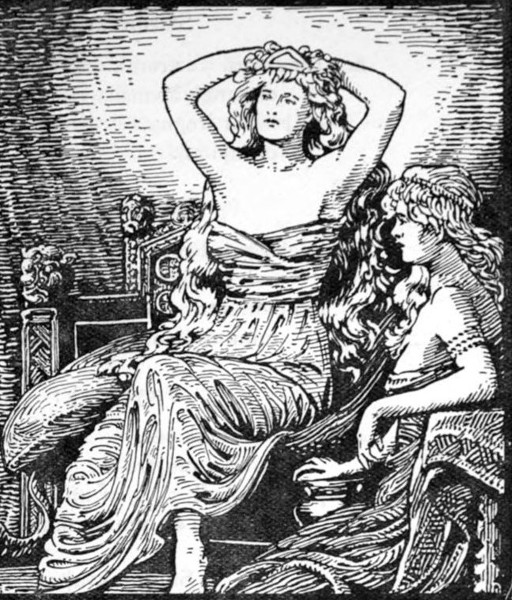 Skirnir's Message to Gerd (1908) by W. G. Collingwood