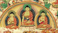 Buddhas of Three times (Dipamkara,Shakyamuni and Maitrey)