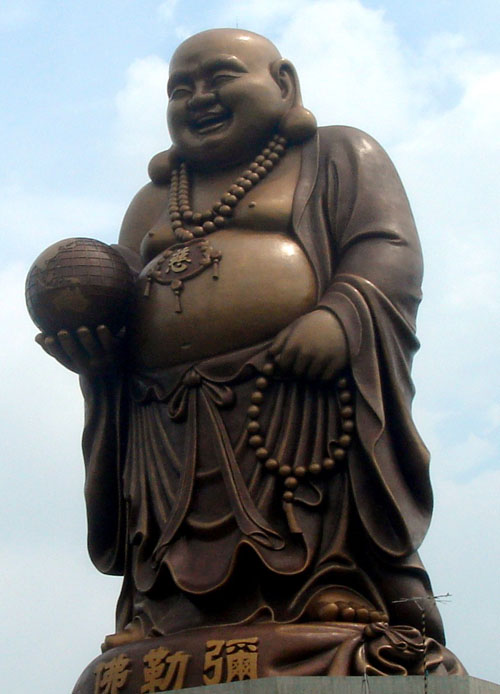 Statue of Budai near Beipu at Emei Lake,  Hsinchu, Taiwan