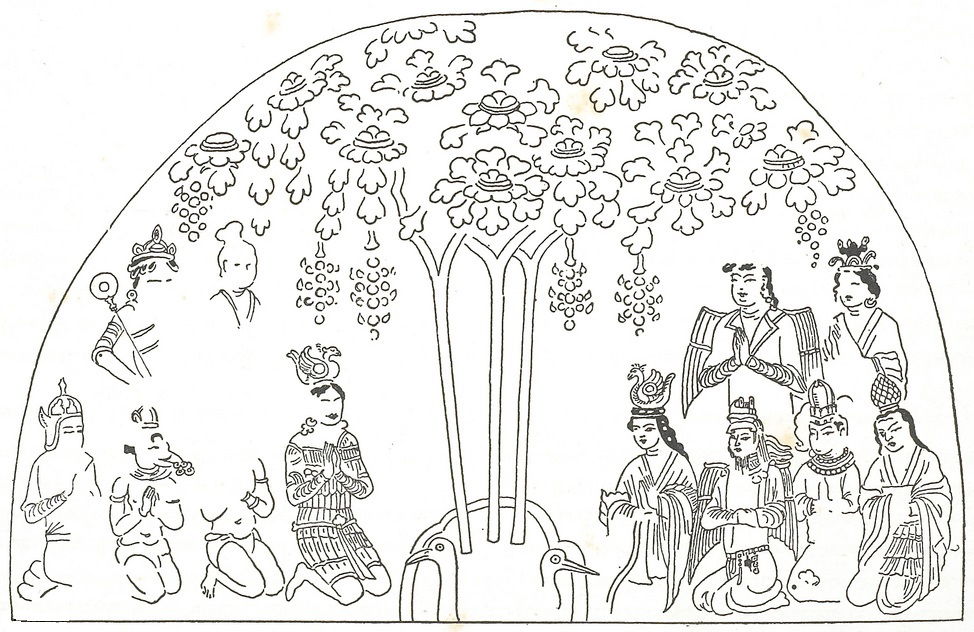 Manichaeans worshiping the Tree of Life
