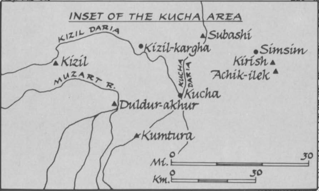 Insert of the Kucha and Kizil area