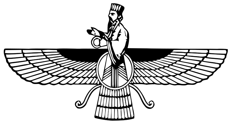 Faravahar (or Ferohar), one of the primary symbols of Zoroastrianism,