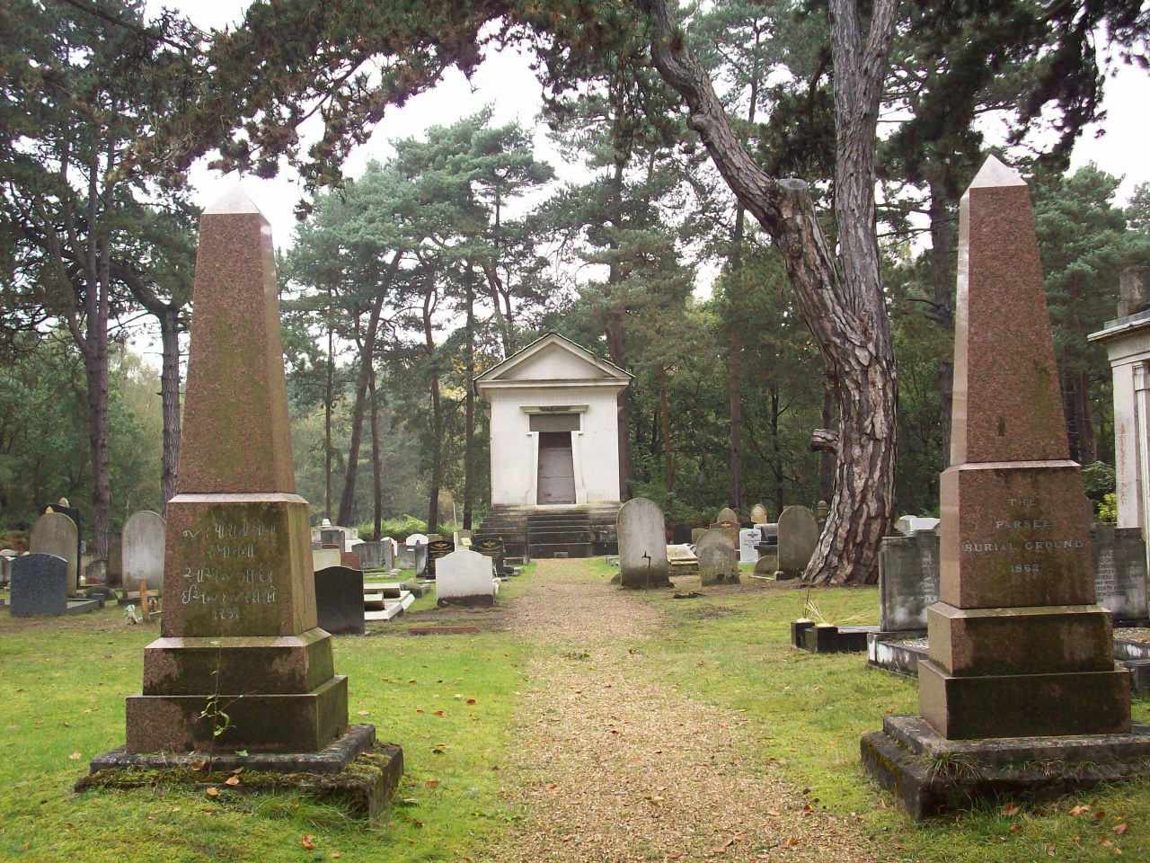 Entrance to the Parsi part of Brookwood Cemetery.