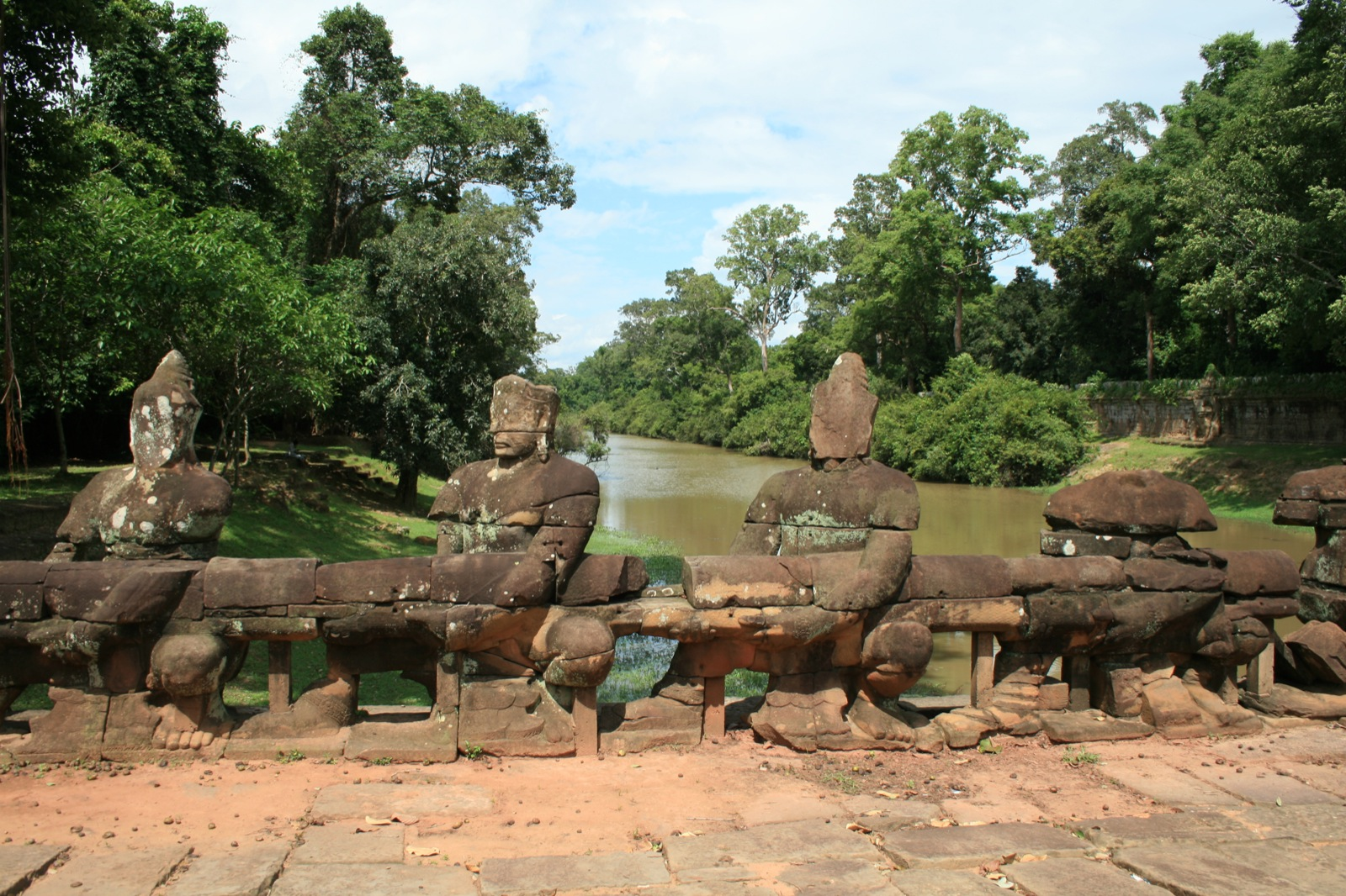 Scenes from The Churning of the Ocean of Milk (at Preah Khan)