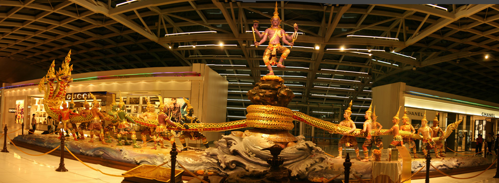 #9: Sculpture on Suvarnabhumi Airport Bangkok