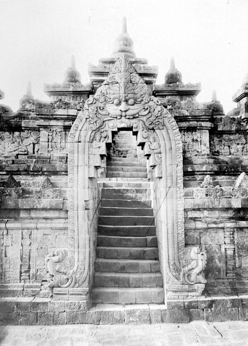A Kirtimukha at the Gate of Borobudur, Indonesia