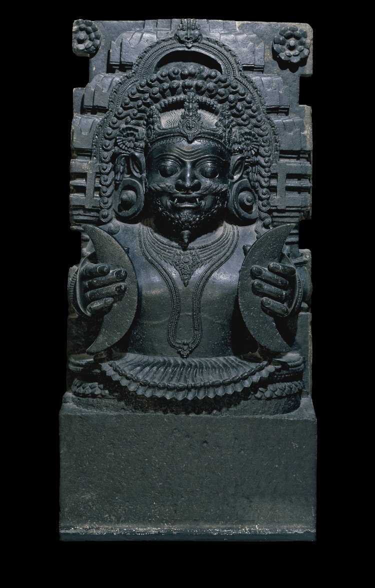 Rahu, Moon in each hand. - The British Museum