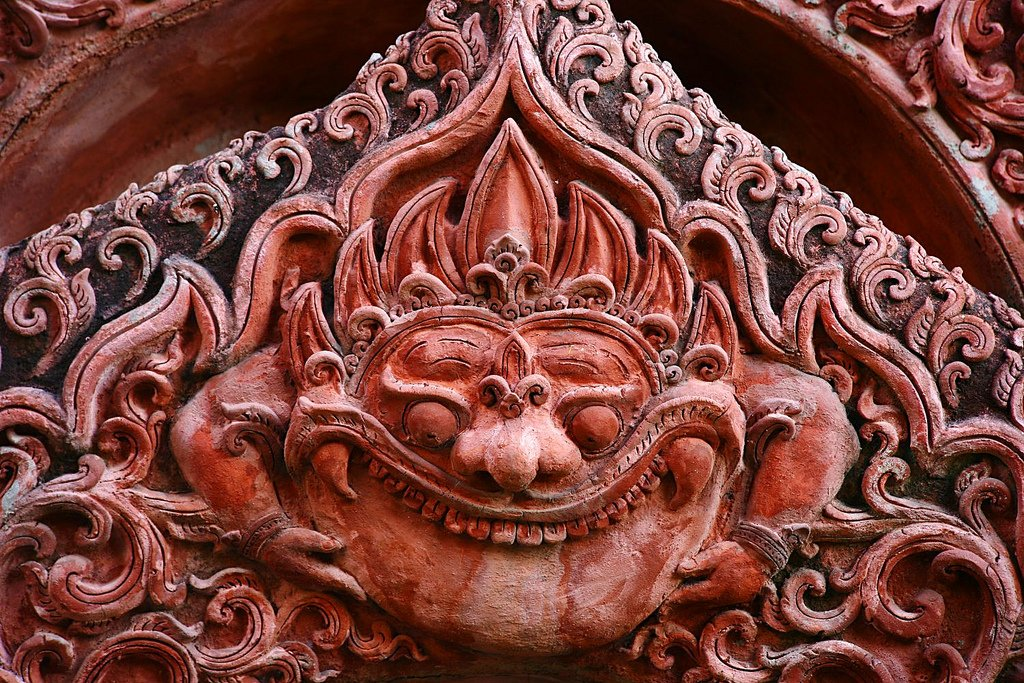 Rahu ornament at Wat Pan Tao,Chiang Mai,Thailand