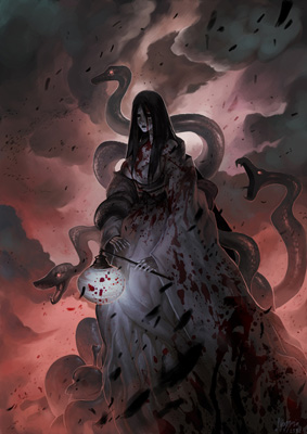 Izanami, the goddes of creation and death