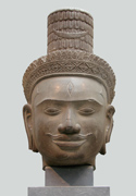 Cambodian Shiva head with third eye