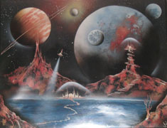 SciFi spray-painting