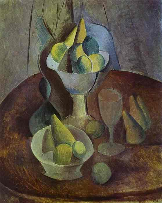 Compotier, Fruit, and Glass (1909)