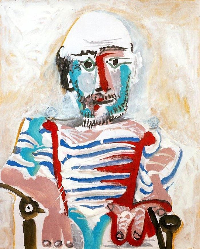 Homme assis (autoportrait) 1965