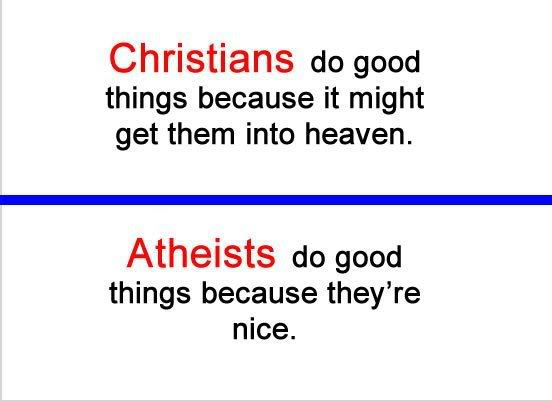 religion/anti-religion vs doing good