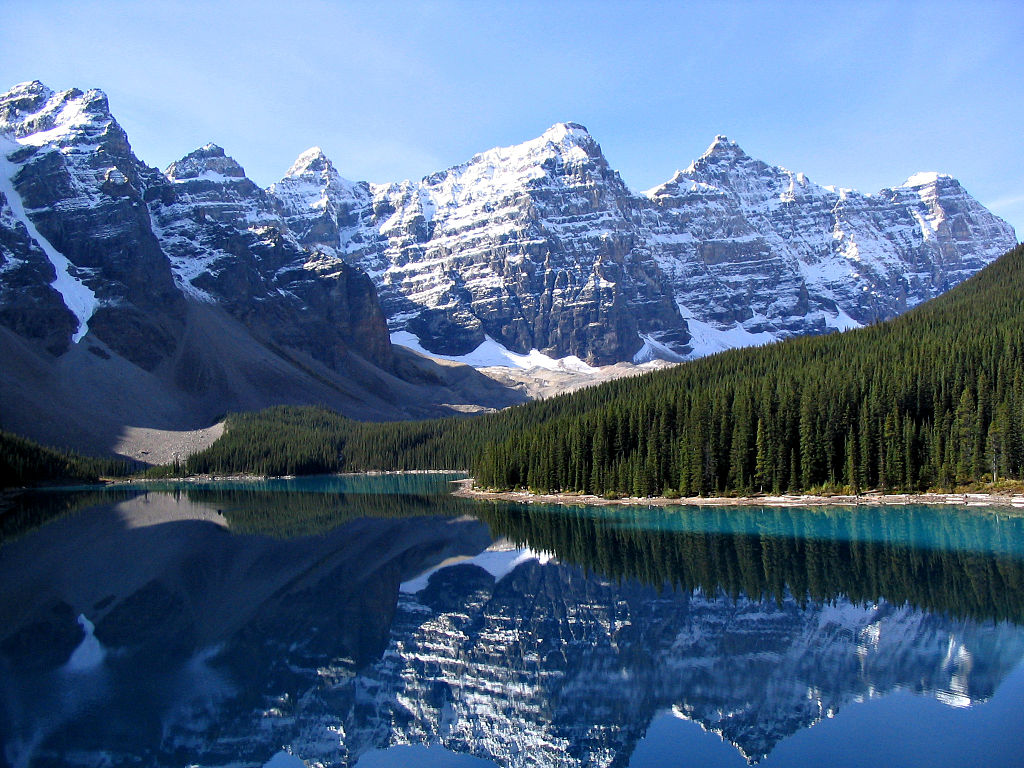 Valley of the Ten Peaks and Moraine Lake, Banff National Park, Canada.