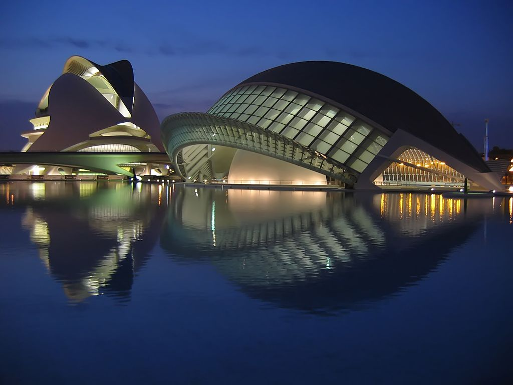 Night Reflection in the City of Arts and Sciences.