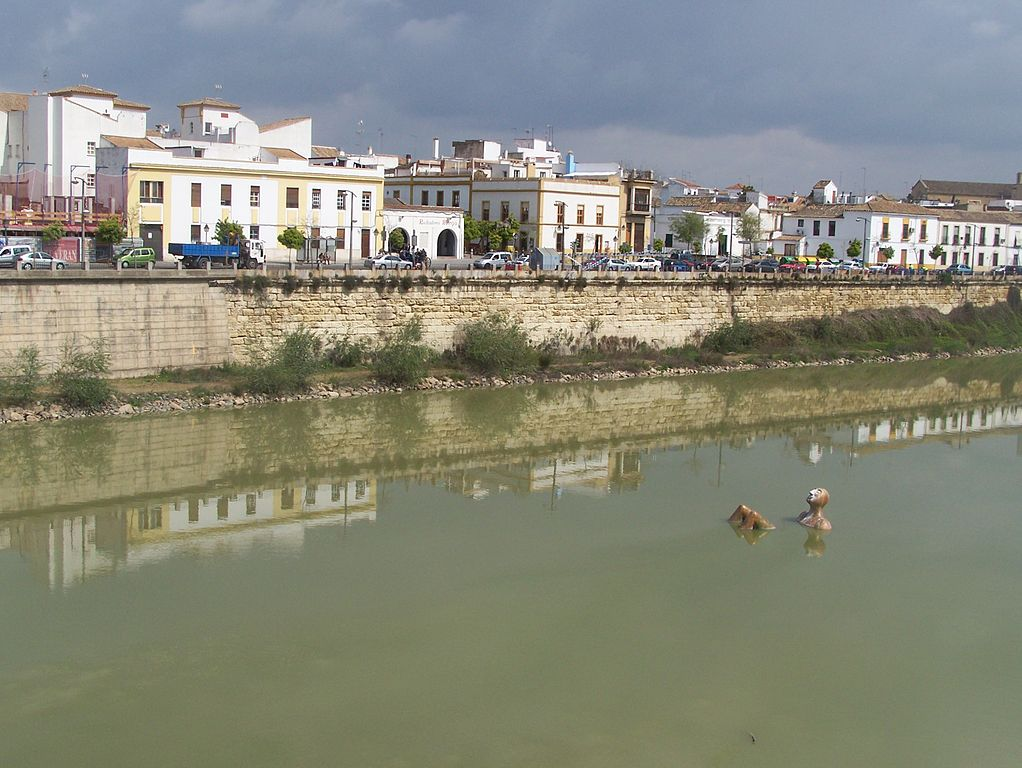 The floating Hombre Río in the Guadalquivir, Córdoba, Spain.