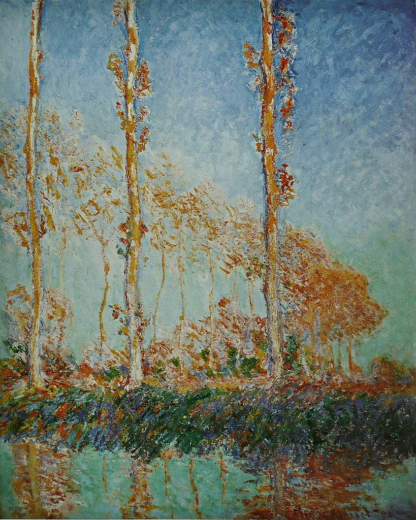 Les Peupliers, trois arbres roses, automne (Three Poplar Trees in the Autumn) by Claude Monet