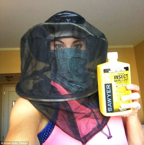 Hope Solo shows off the 'Zika proof' arsenal she's packing for the Rio Olympics