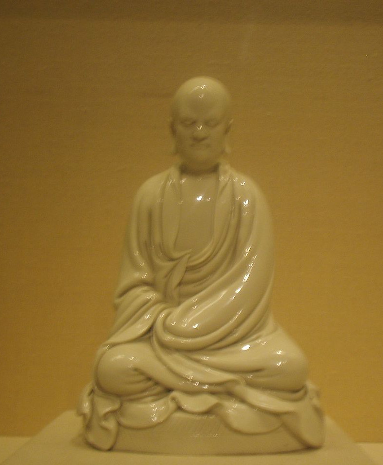 A porcelain statuette of Chan Patriarch Bodhidharma